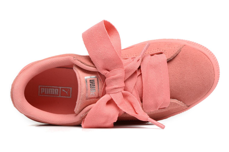 Baskets Puma Suede Heart SNK Rose vue gauche