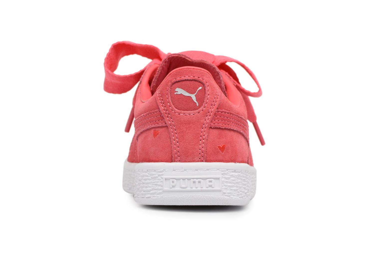 Baskets Puma Suede Heart Valentine Rose vue droite