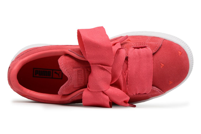 Baskets Puma Suede Heart Valentine Rose vue gauche