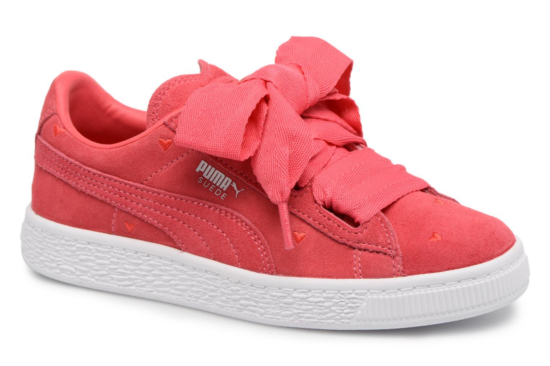 Baskets Puma Suede Heart Valentine Rose vue détail/paire