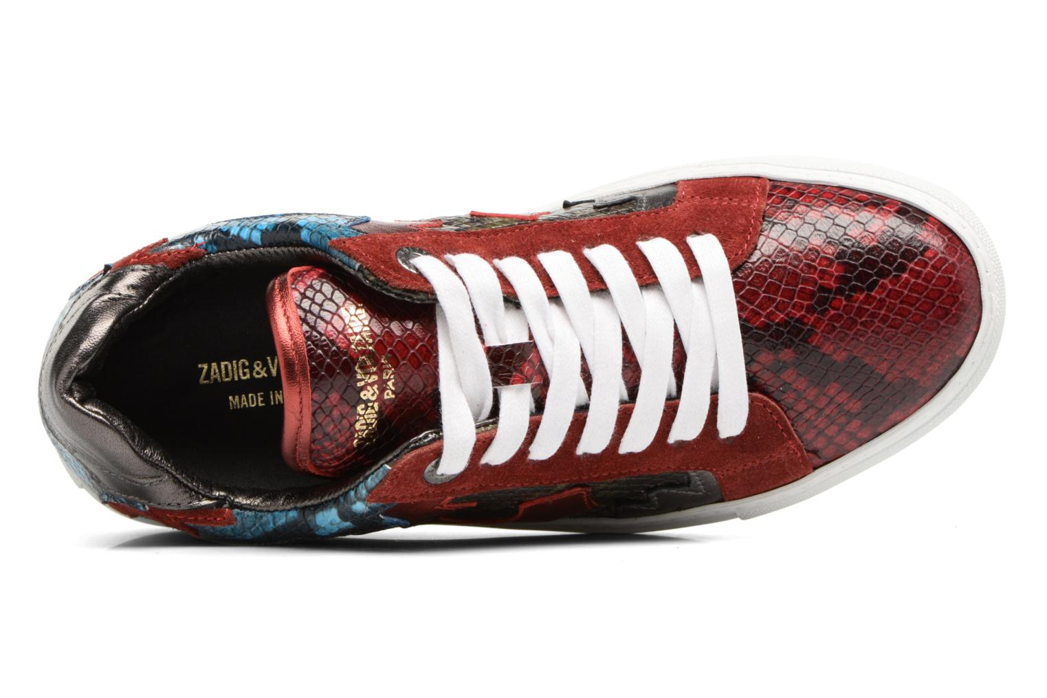 Trainers Zadig & Voltaire NASH TONE Red view from the left