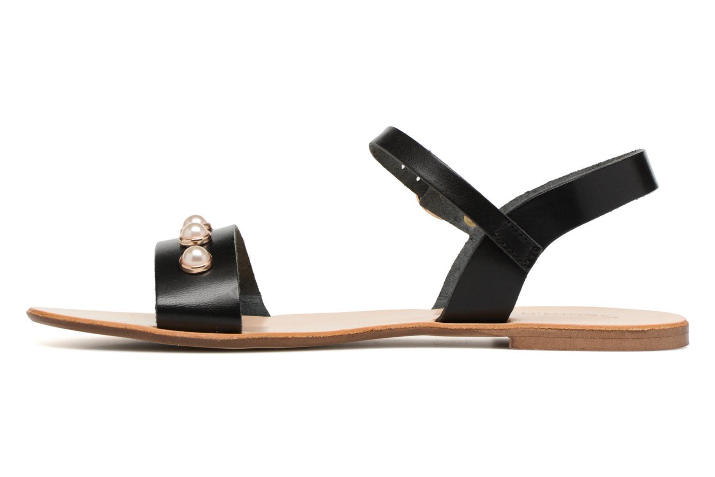 Sandales et nu-pieds Georgia Rose Docultura Noir vue face