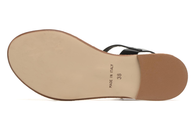 Sandales et nu-pieds Georgia Rose Docultura Noir vue haut