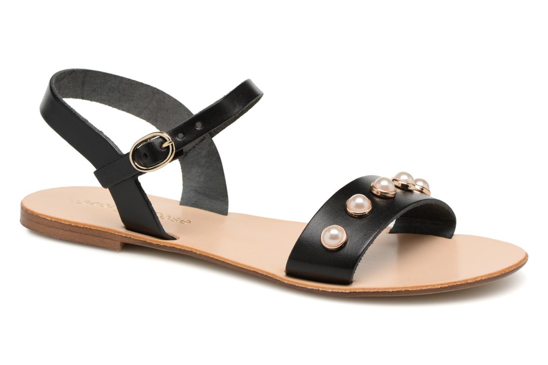 Sandales et nu-pieds Georgia Rose Docultura Noir vue détail/paire