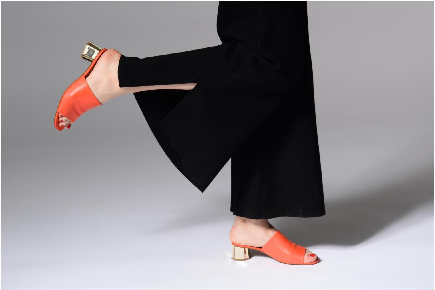 Mules & clogs Clergerie LAMO Orange view from underneath / model view