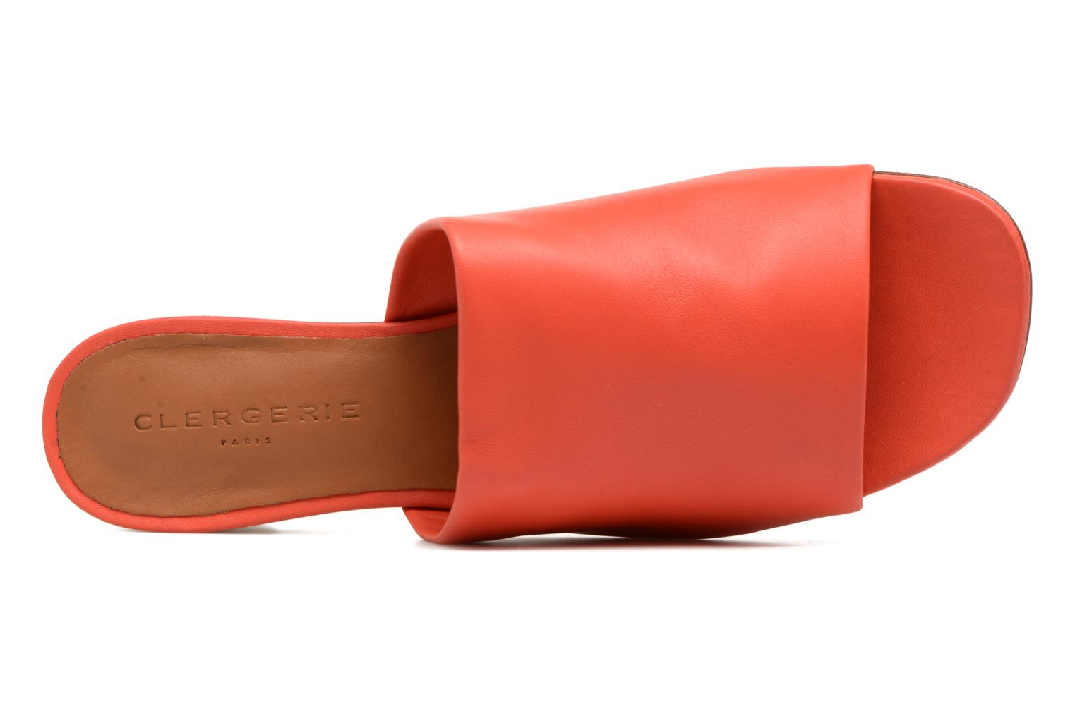 Mules & clogs Clergerie LAMO Orange view from the left