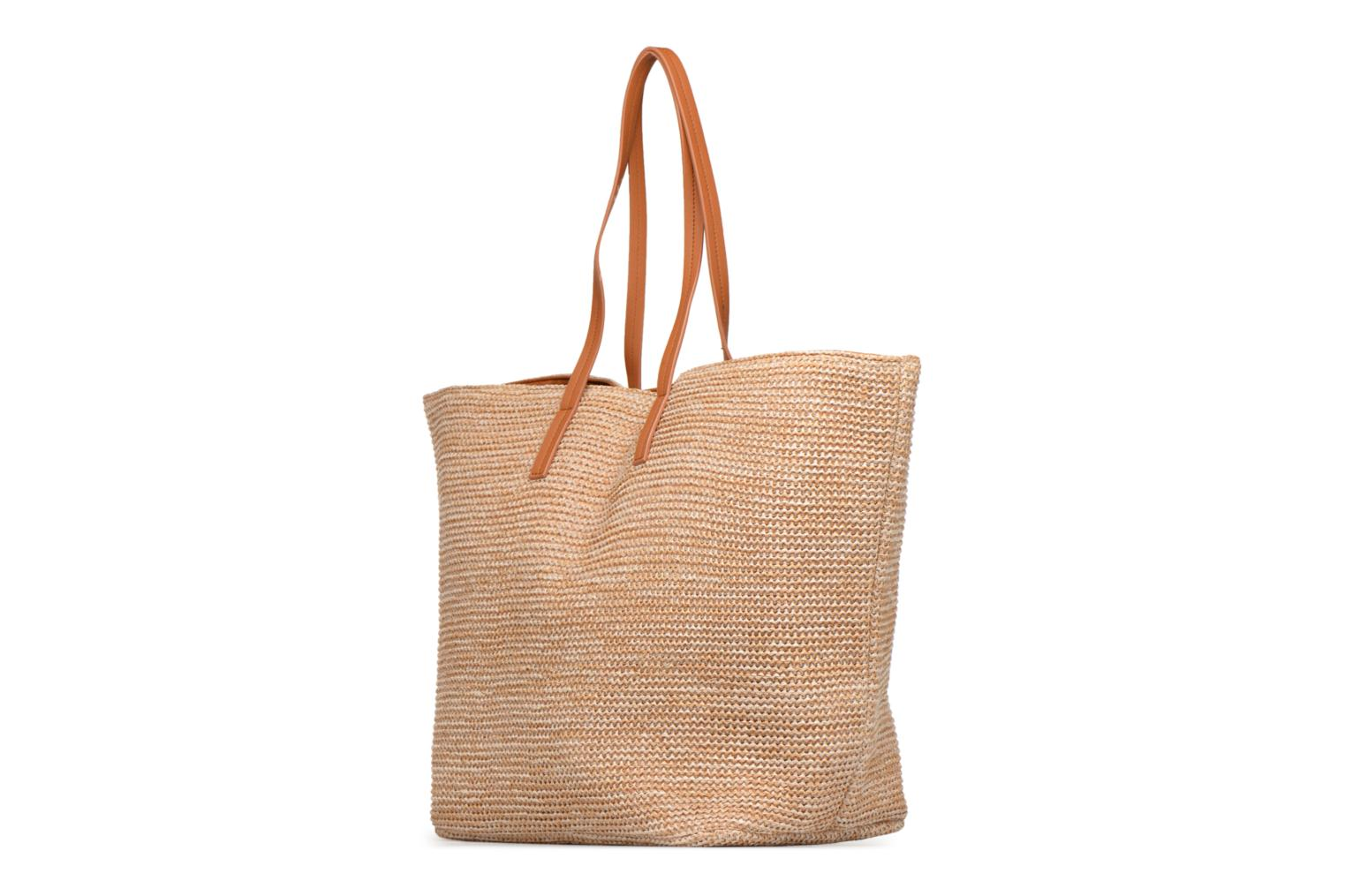 Handtassen Pieces Ilana Shopper Beach Beige model