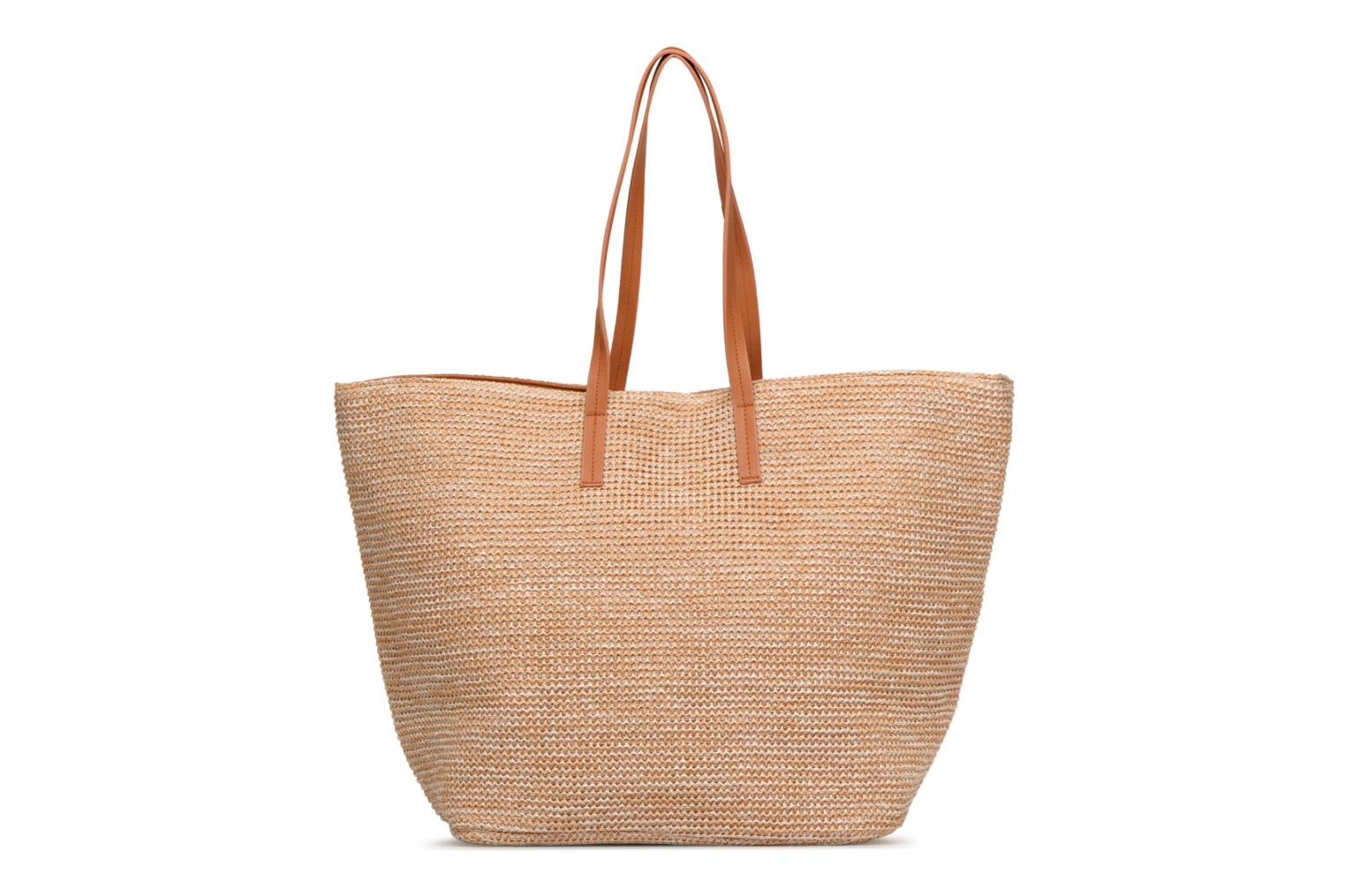 Handtassen Pieces Ilana Shopper Beach Beige voorkant