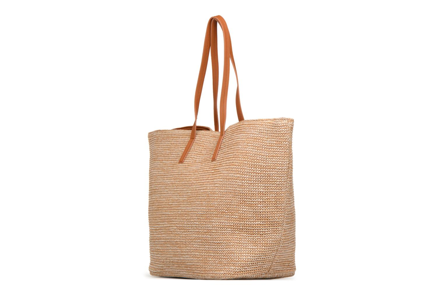 Handtassen Pieces Ilana Shopper Beach Beige rechts