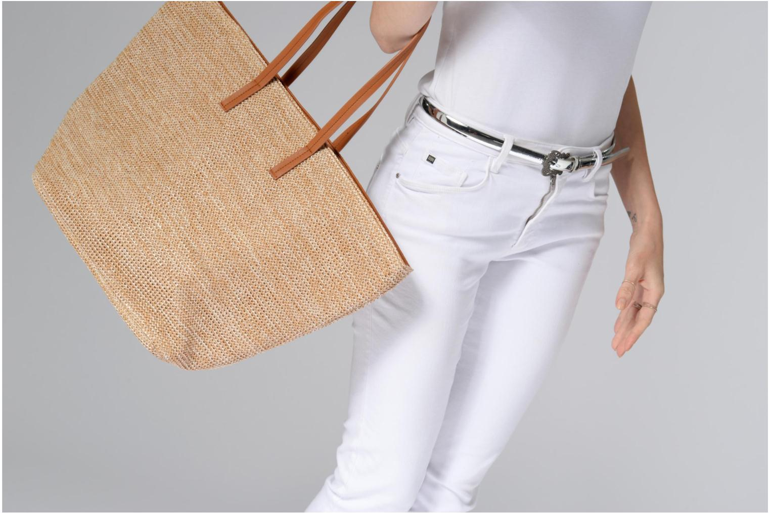 Handtassen Pieces Ilana Shopper Beach Beige boven