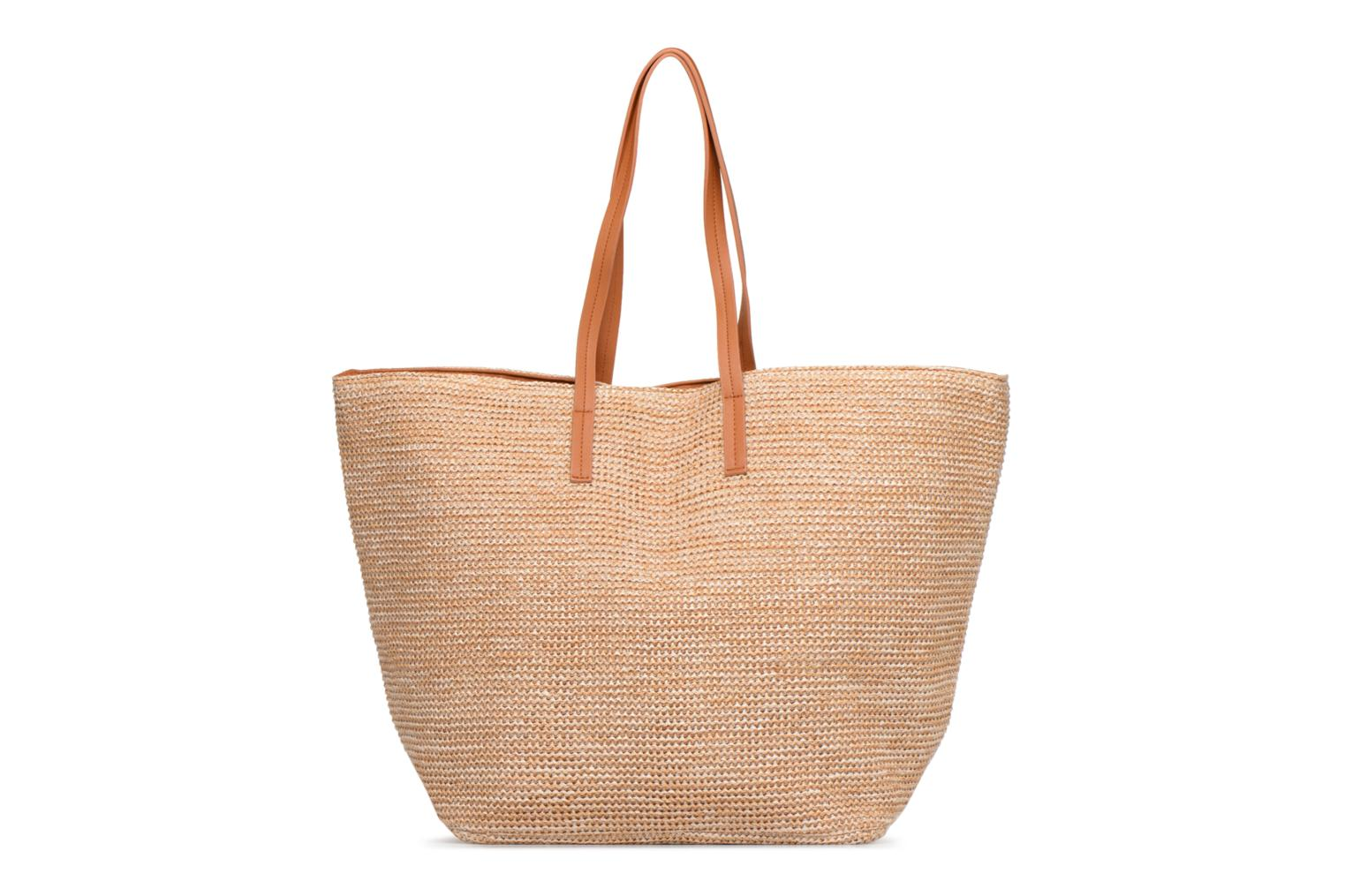 Handtassen Pieces Ilana Shopper Beach Beige detail