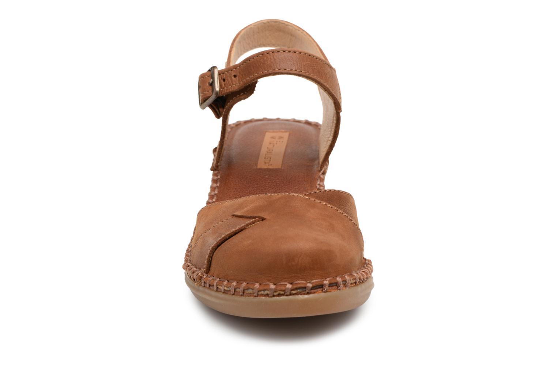 Sandales et nu-pieds El Naturalista Aqua N5324 Marron vue portées chaussures
