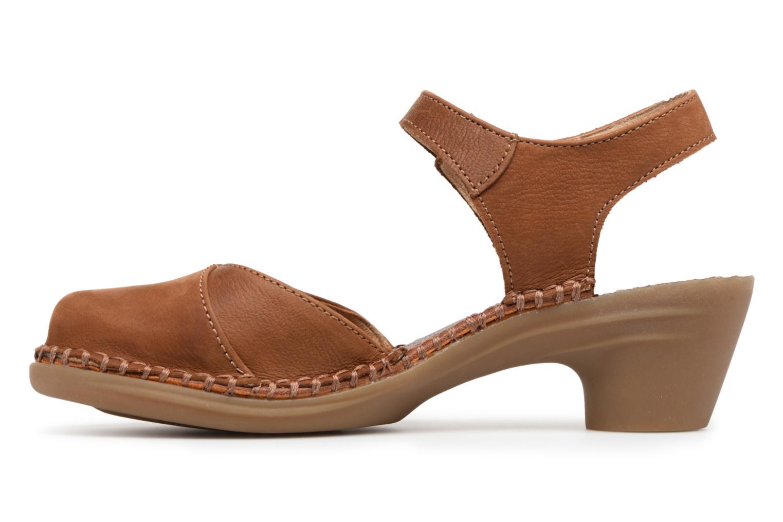 Sandales et nu-pieds El Naturalista Aqua N5324 Marron vue face