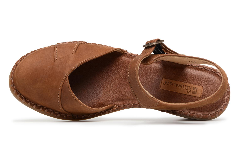 Sandales et nu-pieds El Naturalista Aqua N5324 Marron vue gauche