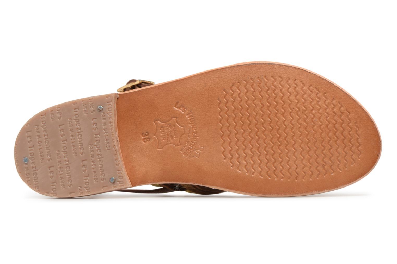 Sandales et nu-pieds Les Tropéziennes par M Belarbi Herclou Marron vue haut