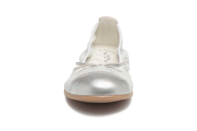 Ballerines Bopy Sabeline Argent vue portées chaussures