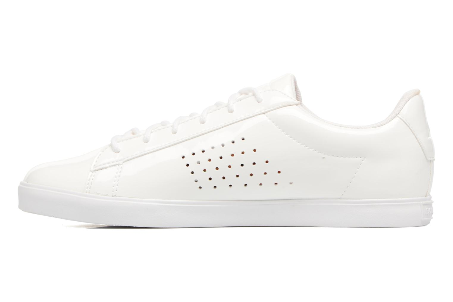 Trainers Le Coq Sportif Agate Lo Patent White front view
