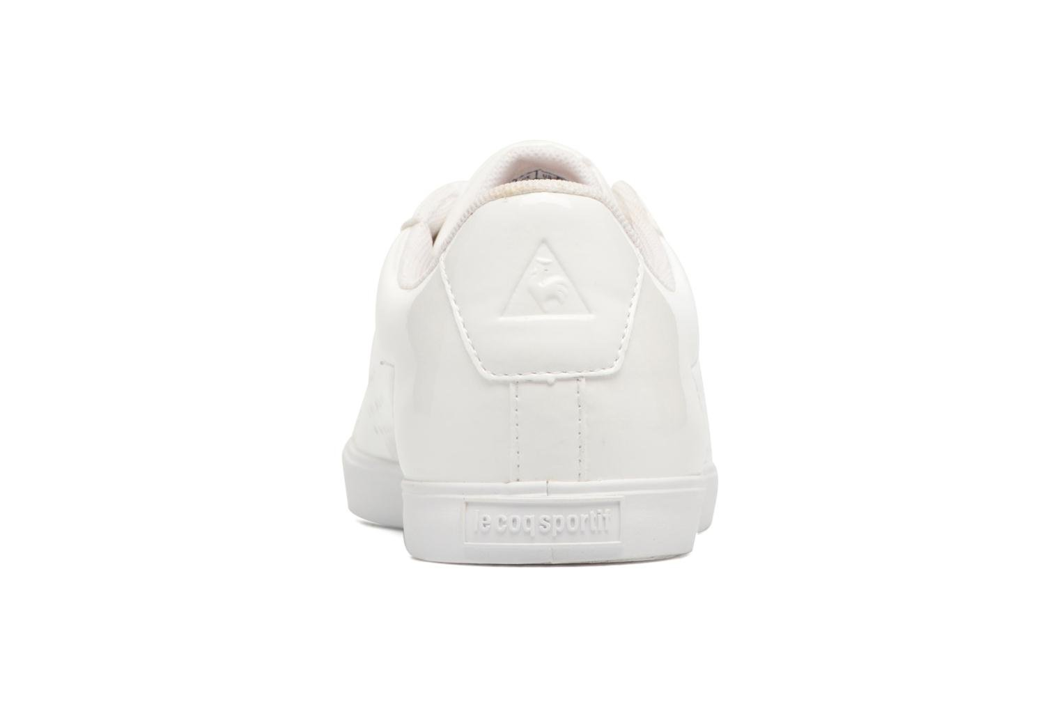 Trainers Le Coq Sportif Agate Lo Patent White view from the right