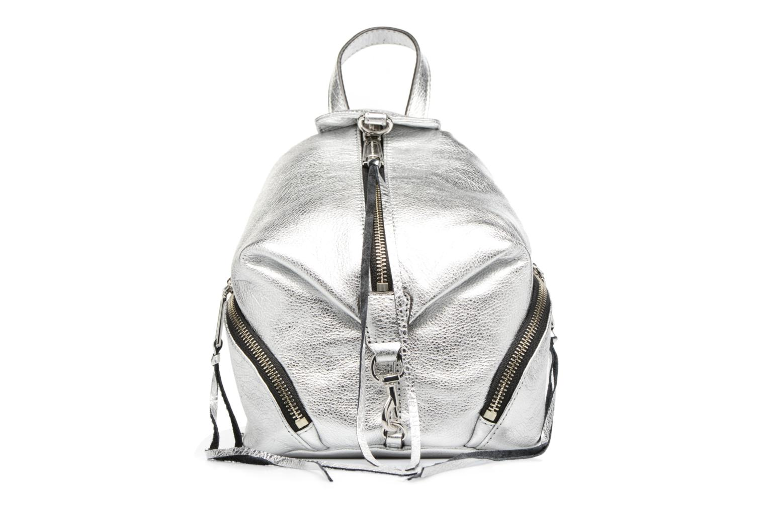 Rugzakken Rebecca Minkoff Convertible Mini Julian Backpack Zilver detail