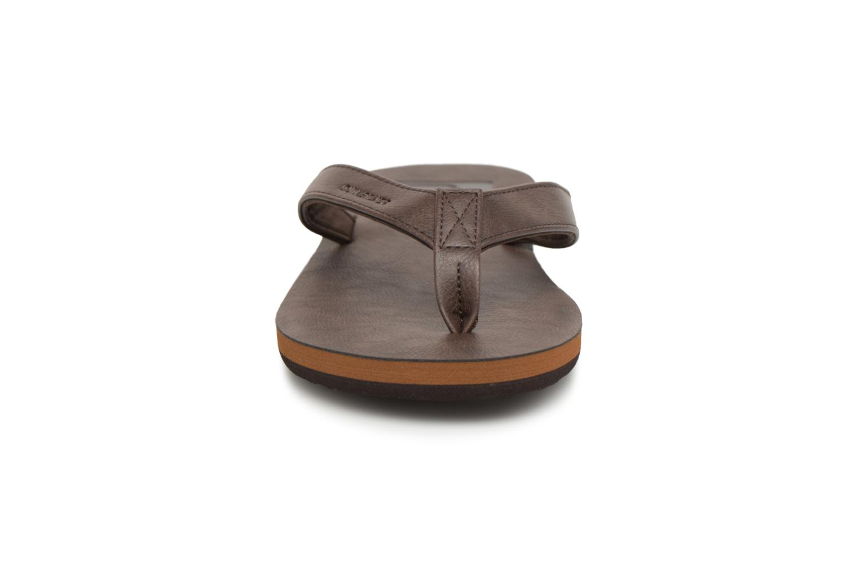 Flip flops Quiksilver Molokai Nubuck Brown model view