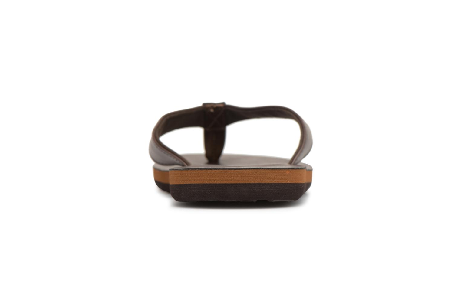Flip flops Quiksilver Molokai Nubuck Brown view from the right