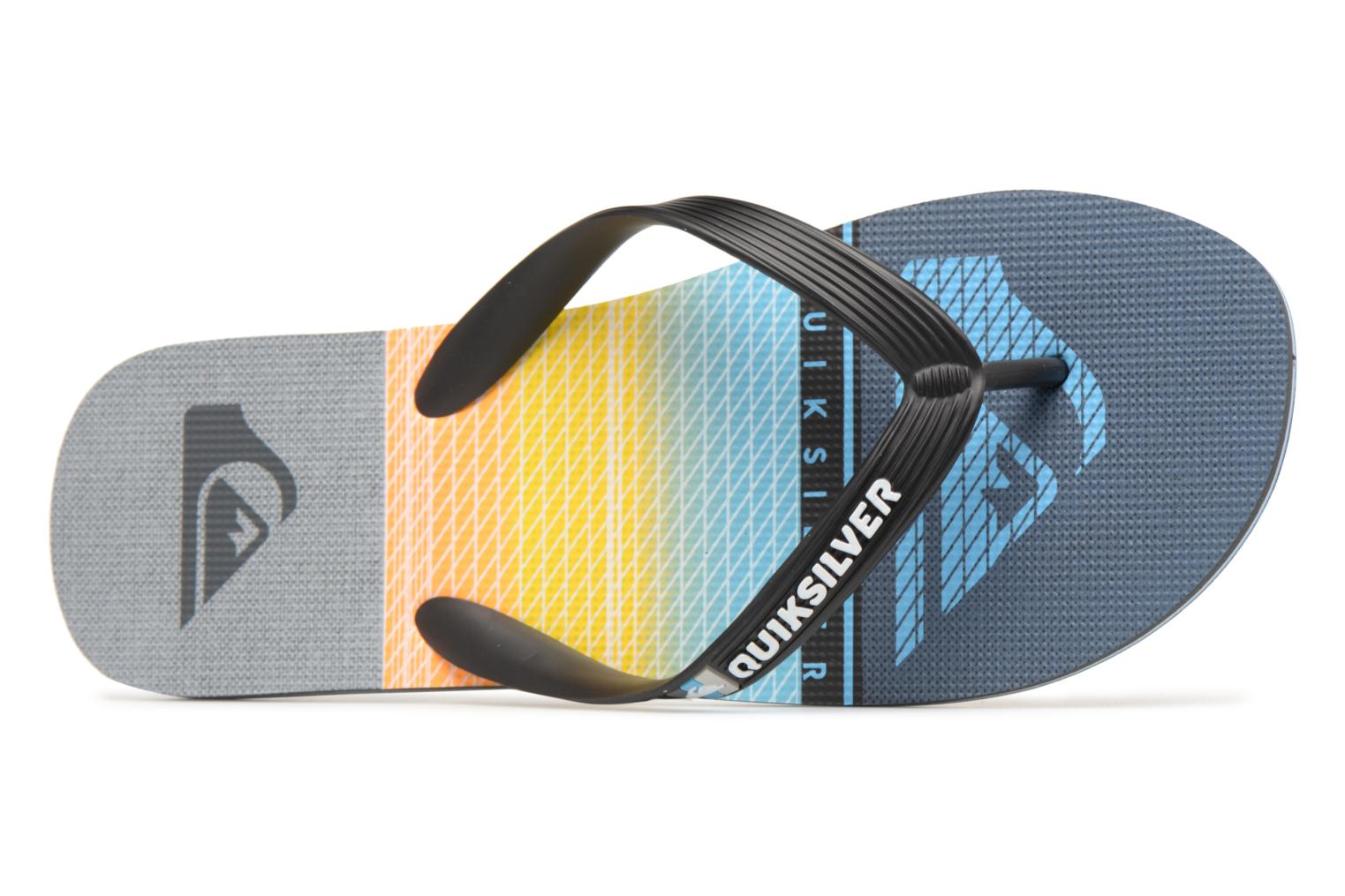 Flip flops Quiksilver Molokai Highline Slab Multicolor view from the left