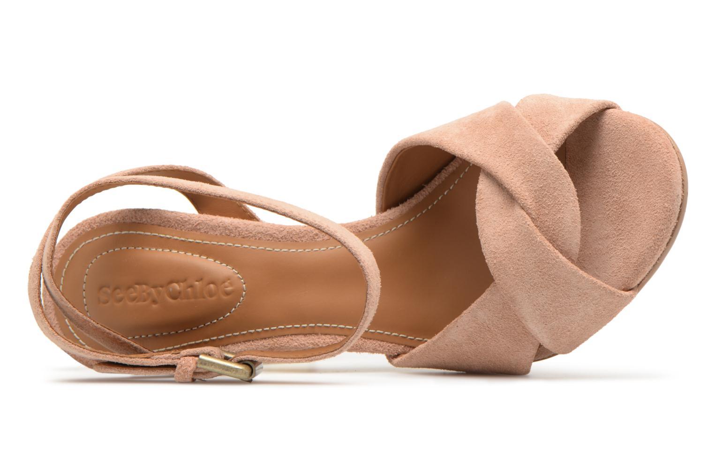 Sandales et nu-pieds See by Chloé Isida Marron vue gauche