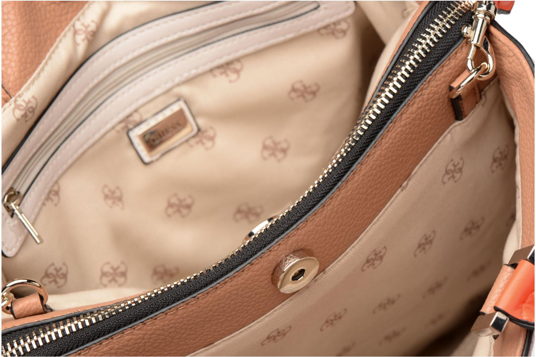 Handtassen Guess Dania Girlfriend Shopper Bruin achterkant