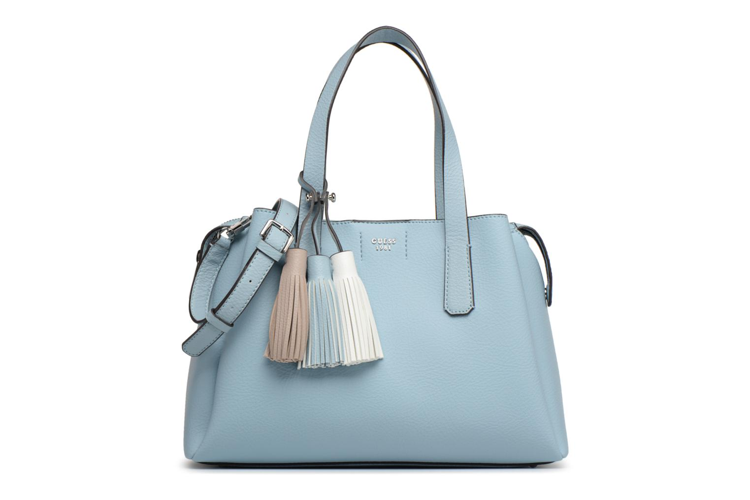 Sacs à main Guess Trudy Girlfriend Satchel Bleu vue détail/paire