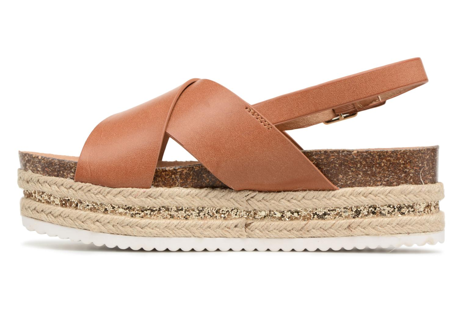 Sandals MTNG Roxan Brown front view