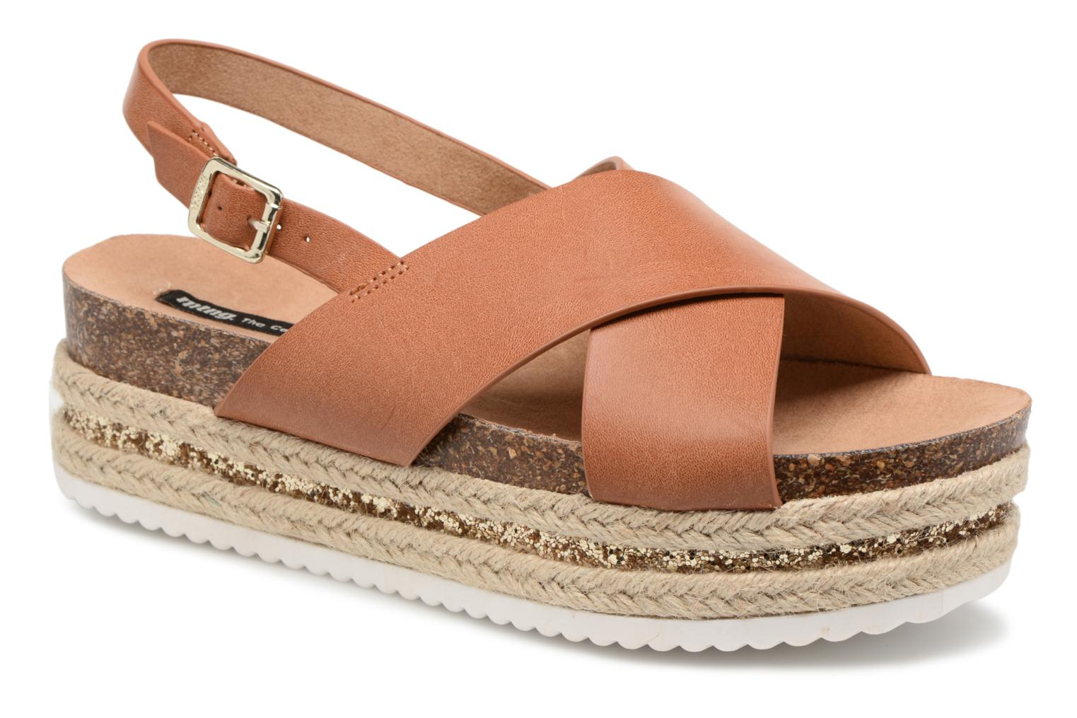 Sandals MTNG Roxan Brown detailed view/ Pair view