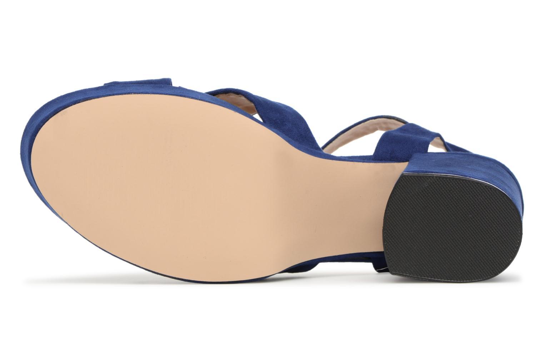 Sandales et nu-pieds MTNG Isquina Bleu vue haut