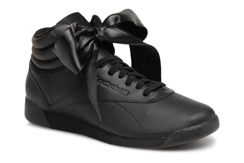 Grandes descuentos últimos zapatos Reebok Freestyle Hi Satin Bow (Negro) - Deportivas Descuento