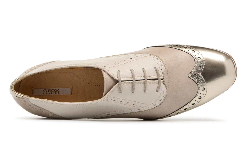 Chaussures à lacets Geox D MARLYNA C D828PC Beige vue gauche