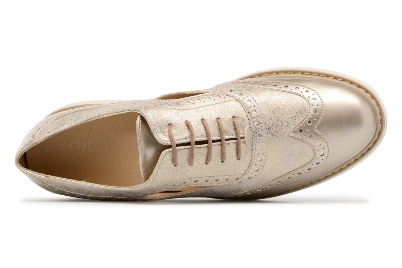 Chaussures à lacets Geox D THYMAR A D824BA Or et bronze vue gauche