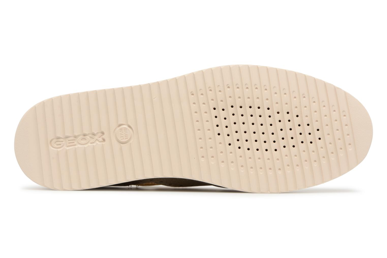 Chaussures à lacets Geox D THYMAR A D824BA Or et bronze vue haut