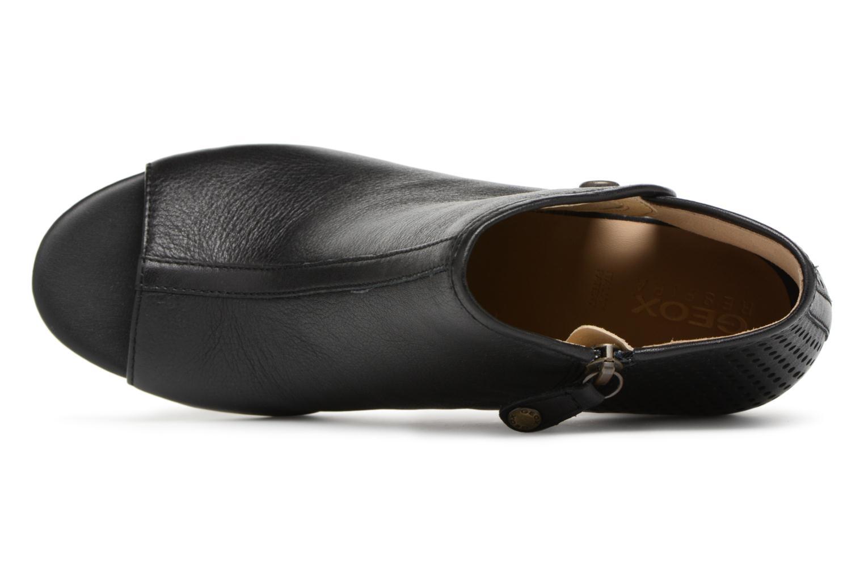 Bottines et boots Geox D EUDORA G D828ZG Noir vue gauche