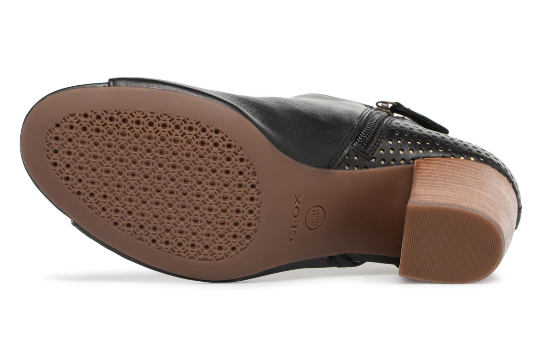 Bottines et boots Geox D EUDORA G D828ZG Noir vue haut
