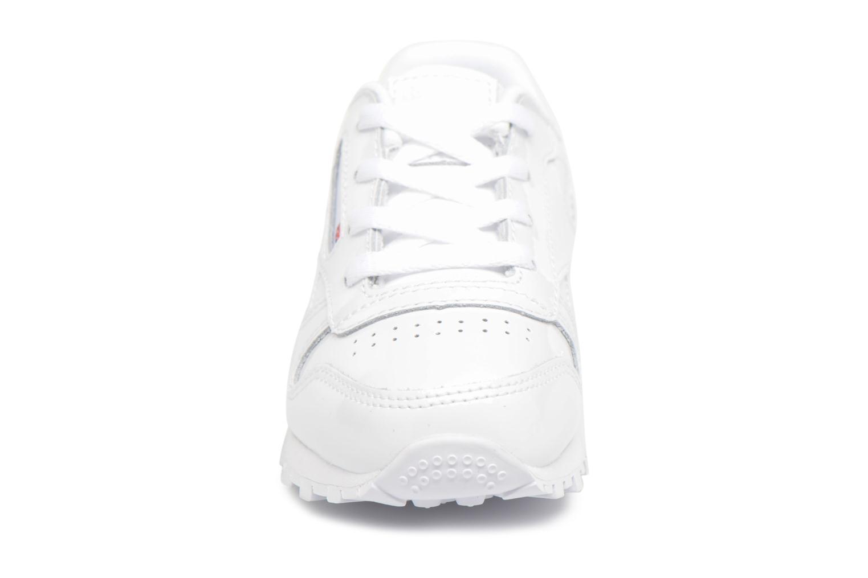 Baskets Reebok Classic Leather Patent I Blanc vue portées chaussures
