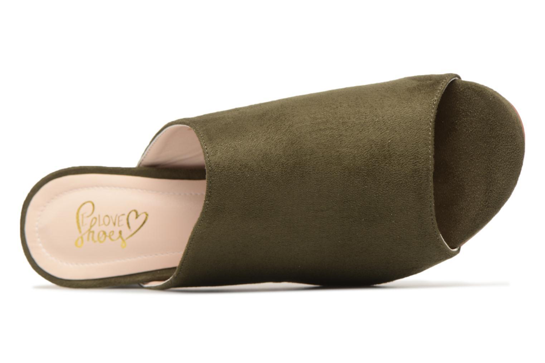 Mules et sabots I Love Shoes CAMULE Vert vue gauche