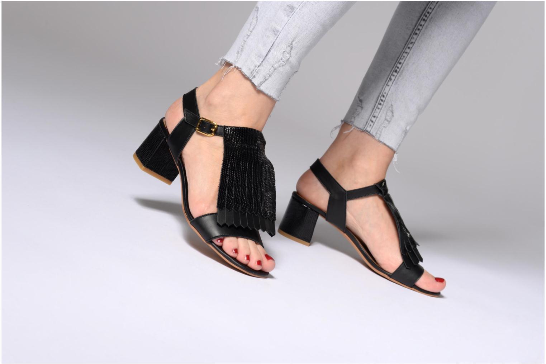 Sandales et nu-pieds Made by SARENZA Carioca Crew Sandales à Talons #2 Noir vue bas / vue portée sac