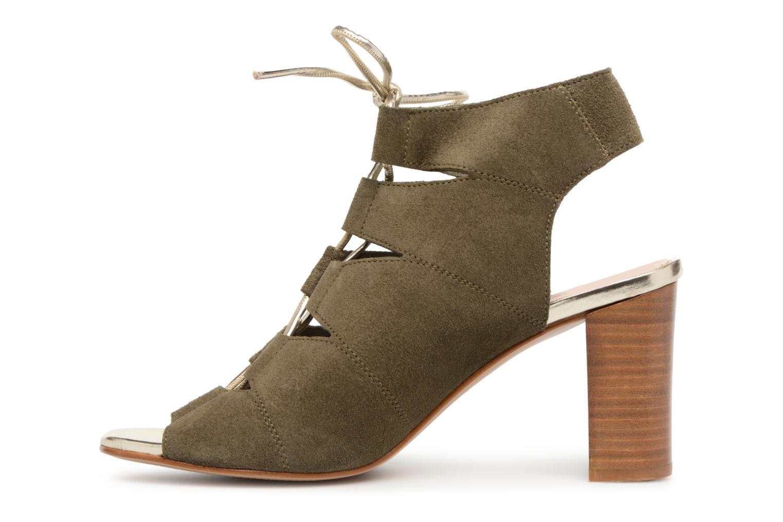 Sandales et nu-pieds Georgia Rose Calista Vert vue face