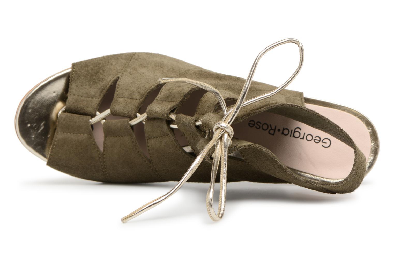 Sandales et nu-pieds Georgia Rose Calista Vert vue gauche