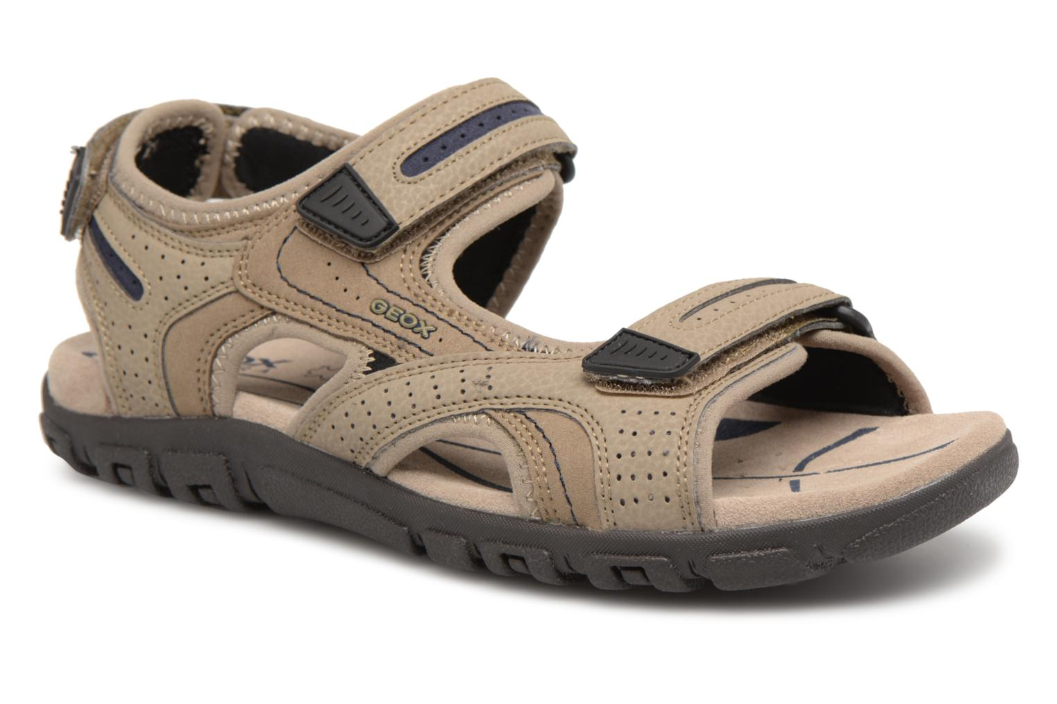 Sandals Geox U S.STRADA D U8224D Beige detailed view/ Pair view