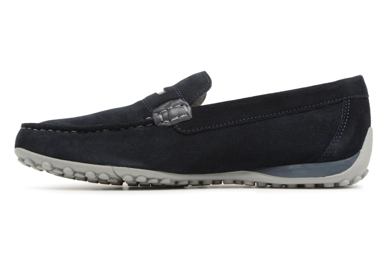 Loafers Geox U SNAKE MOC A U8207A Blue front view