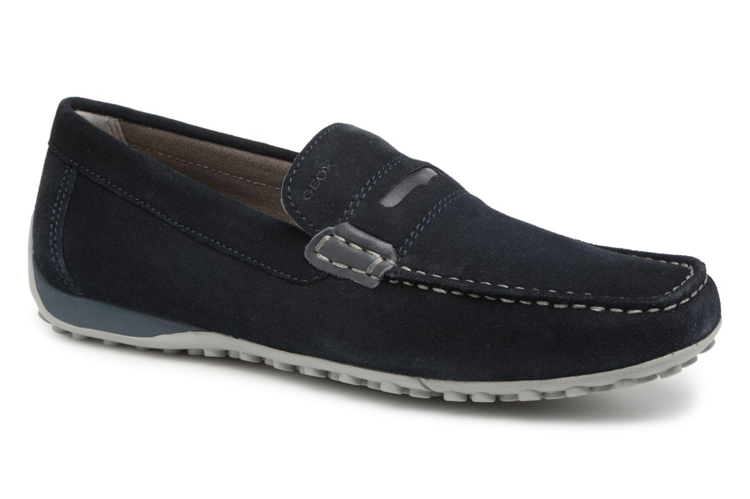Loafers Geox U SNAKE MOC A U8207A Blue detailed view/ Pair view
