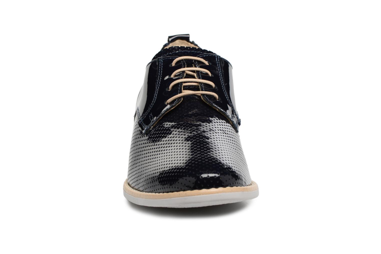 Chaussures à lacets Georgia Rose Nouga Bleu vue portées chaussures