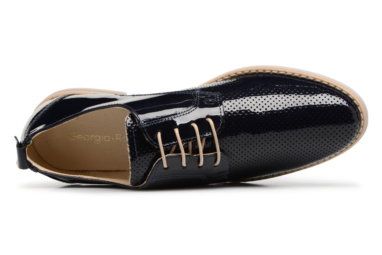 Chaussures à lacets Georgia Rose Nouga Bleu vue gauche