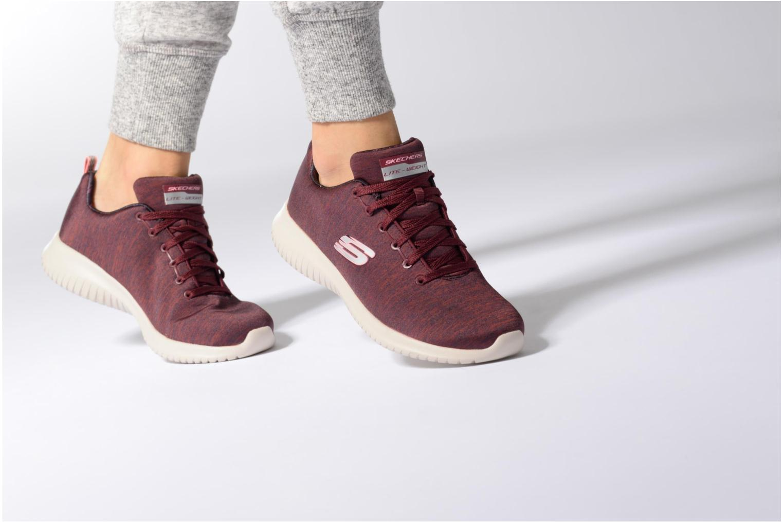 Chaussures de sport Skechers Ultra Flex-First Choice Bordeaux vue bas / vue portée sac
