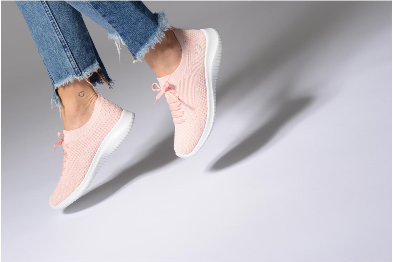 Chaussures de sport Skechers Ultra Flex-Statements Rose vue bas / vue portée sac